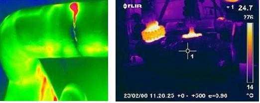 Изображения с экрана тепловизора