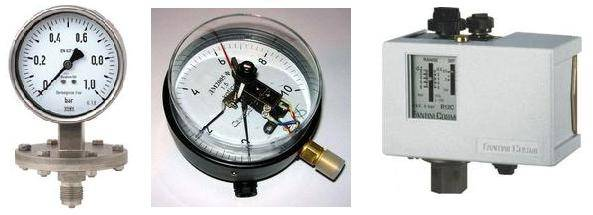 Мембранный датчик, ЭКМ и реле давления