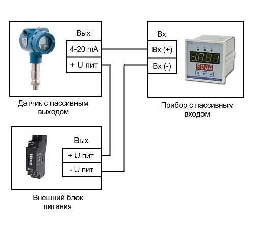 двухпроводные датчики 4-20