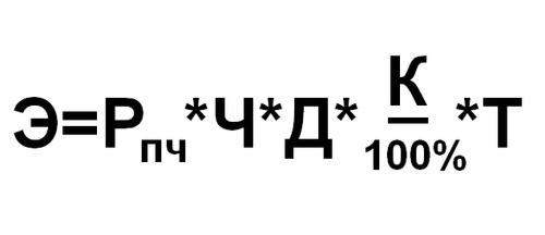 Расчет окупаемости формула