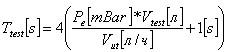 Расчетная формула времени тестирования